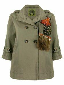 Alessandra Chamonix embroidered fringe jacket - Green