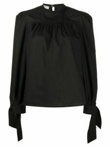 Philosophy Di Lorenzo Serafini tie-cuffs round-neck blouse - Black