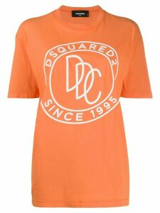 Dsquared2 logo print T-shirt - ORANGE