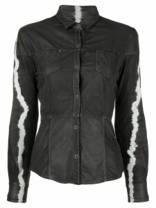 Giorgio Brato tie-dye leather shirt - NERO TDV