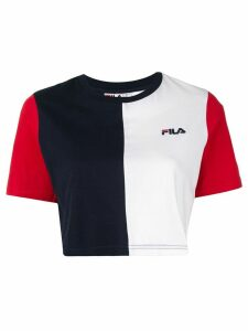 Fila colour block cropped T-shirt - Multicolour