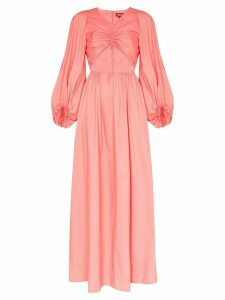 Staud Tangier ruched front maxi dress - PINK