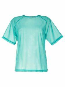 G.V.G.V. sheer oversized T-shirt - Blue