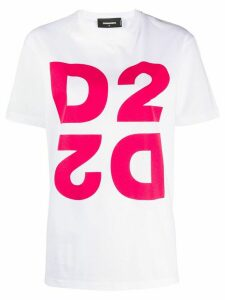 Dsquared2 printed logo oversized T-shirt - White