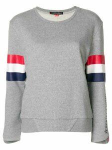 Perfect Moment striped detail sweatshirt - Grey