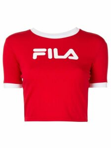 Fila logo-print cropped T-shirt - Red