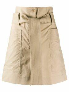 P.A.R.O.S.H. belted waist shorts - NEUTRALS