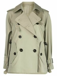 Sacai double-breasted fitted jacket - NEUTRALS