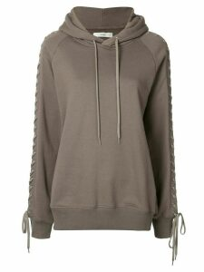 G.V.G.V. lace-up hoodie - Brown
