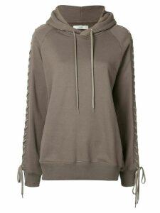 G.V.G.V. lace-up hoodie - Brown