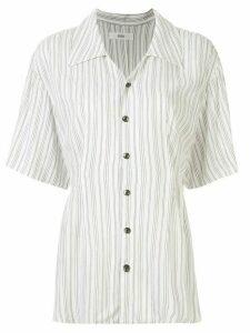 G.V.G.V. crinkled voiler blouse - White