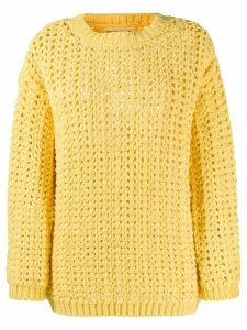 Ermanno Scervino chunky knit jumper - Yellow