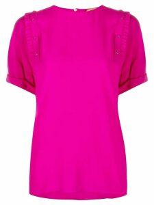 Nº21 ruffle trim T-shirt - PINK