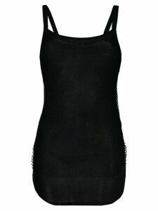 Ann Demeulemeester Aura mesh tank top - Black