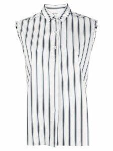 Aspesi striped sleeveless shirt - White