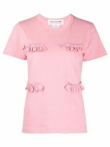 Comme Des Garçons Girl ruffle detail T-shirt - PINK