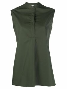 Aspesi sleeveless band collar top - Green