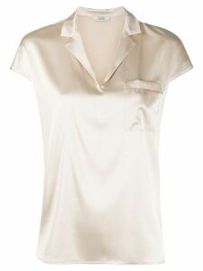 Peserico open-collar blouse - NEUTRALS