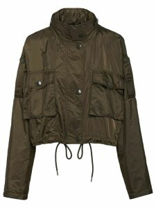 Prada funnel neck cropped jacket - Green