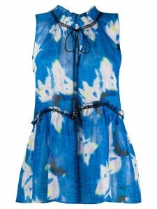 Dorothee Schumacher tie fastened floral print blouse - Blue