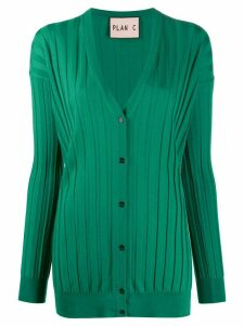 Plan C deep V-neck knitted cardigan - Green