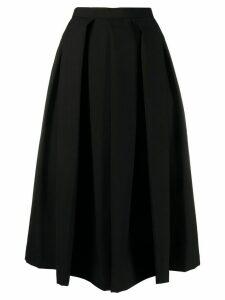 Comme Des Garçons Comme Des Garçons high-waisted flared skirt - Black