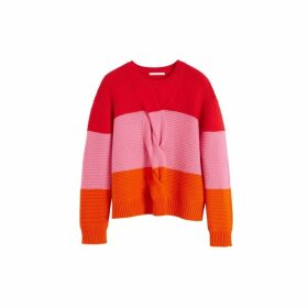 Chinti & Parker Red Giant Cable Wool-cashmere Sweater