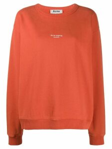 Acne Studios reverse logo sweatshirt - ORANGE