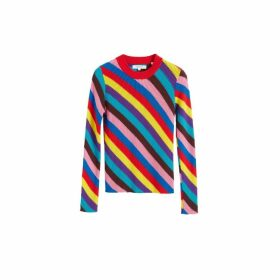 Chinti & Parker Multicoloured Rib-knit Cashmere Vanessa Sweater