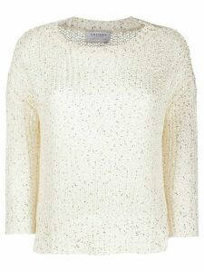 Snobby Sheep crew neck chunky knit jumper - White