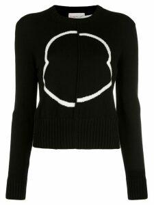 Moncler asymmetric logo jumper - Black