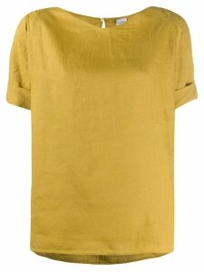 Aspesi turned up short sleeve top - Yellow