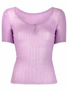 Jacquemus Loiza mesh T-shirt - PURPLE