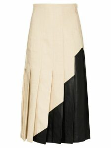 Joseph Saar panelled pleated midi skirt - NEUTRALS
