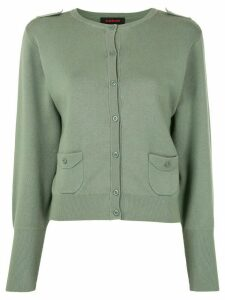 Caban button tab cardigan - Green