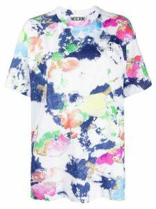 Moschino tie-dye denim-effect T-shirt - White