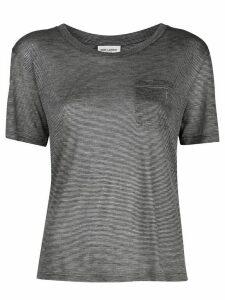 Saint Laurent slouchy striped T-shirt - Grey