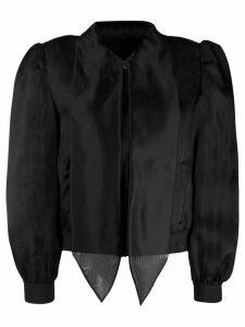 Moschino neck tie silk blouse - Black