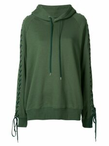 G.V.G.V. lace-up hoodie - Green
