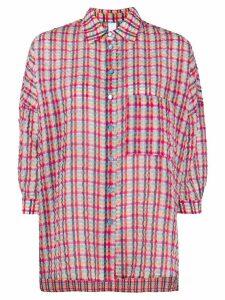 Ultràchic crinkled tartan shirt - PINK