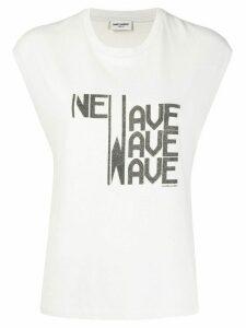 Saint Laurent New Wave-print tank top - NEUTRALS