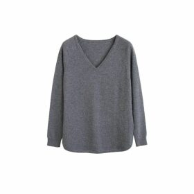 Chinti & Parker Grey Cashmere V-neck Sweater