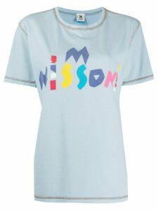 M Missoni logo print T-shirt - Blue