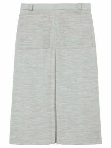 Burberry box pleat skirt - Grey