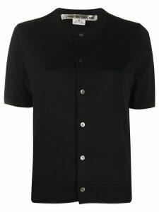 Comme Des Garçons plain shortsleeved cardigan - Black