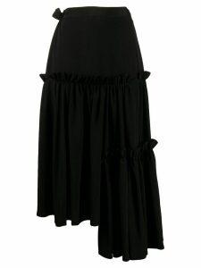 Yohji Yamamoto Three Steps midi skirt - Black