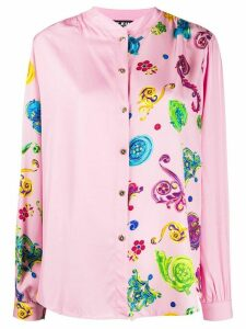 Versace Jeans Couture contrast panel shirt - PINK