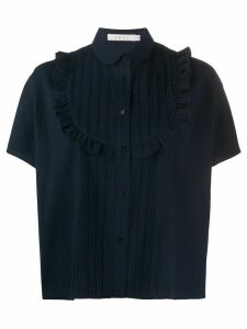 Neul ruffled bib shirt - Blue