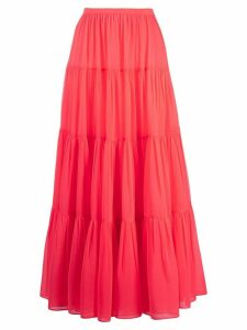 Valentino long tiered skirt - PINK