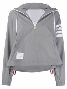 Thom Browne cropped hooded jacket - Grey